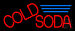 Red Cold Soda LED Neon Sign