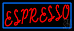 Red Espresso With Blue Line Neon Sign