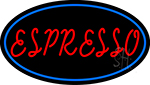 Red Espresso With Blue Line LED Neon Sign