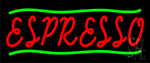 Red Espresso With Green Lines LED Neon Sign