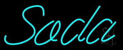 Blue Soda LED Neon Sign