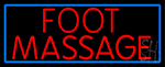 Red Foot Reflexology LED Neon Sign