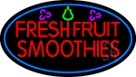 Red Fresh Smoothies LED Neon Sign