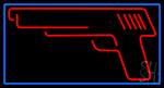 Red Gun Logo LED Neon Sign