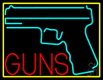 Red Gun Turquoise Logo LED Neon Sign