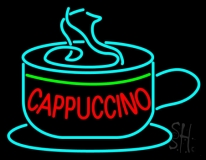 Cappuccino Inside Cup LED Neon Sign