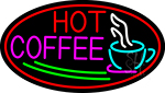 Red Hot Coffee With Cup LED Neon Sign