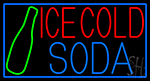 Red Ice Cold Soda LED Neon Sign