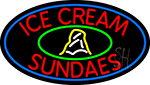 Red Ice Cream Sundaes LED Neon Sign