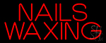 Red Nails Waxing LED Neon Sign