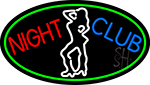 Red Night Club Girls LED Neon Sign