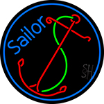 Red Sailor Logo LED Neon Sign