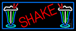 Red Shakes With Glass LED Neon Sign