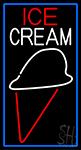 Simple Ice Cream Cone LED Neon Sign