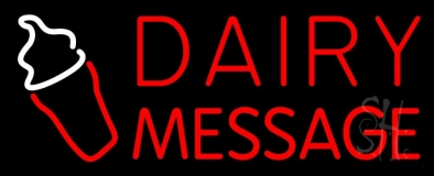 Custom Red Dairy LED Neon Sign