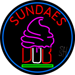 Sundaes Cone LED Neon Sign