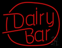 Dairy Bar LED Neon Sign