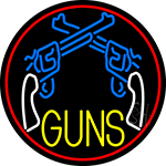 Two Gun Logo LED Neon Sign