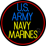 Us Army Navy Marines LED Neon Sign