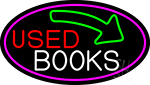 Used Books With Arrow LED Neon Sign