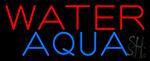 Water Aqua Neon Sign