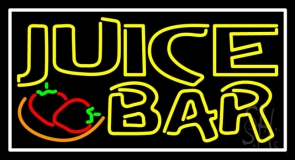 Double Stroke Juice Bar With Strawberries LED Neon Sign