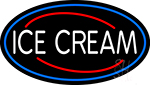 White Ice Cream LED Neon Sign