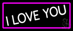 White I Love You LED Neon Sign