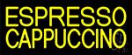 Yellow Cappuccino Espresso LED Neon Sign