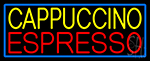 Yellow Cappuccino Red Espresso LED Neon Sign