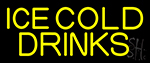 Yellow Ice Cold Drinks Neon Sign