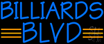 Billiards Blvd Neon Sign