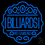 Billiards No Gambling Neon Sign