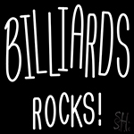 Billiards Rocks Neon Sign