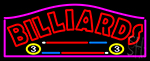 Billiards 1 Neon Sign