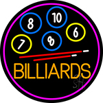 Billiards With Logo 2 Neon Sign