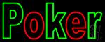 Block Poker 2 Neon Sign