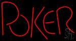 Block Poker Neon Sign