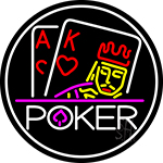 Poker With Border 1 LED Neon Sign