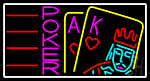Poker With Border 3 LED Neon Sign
