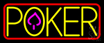 Poker With Border 4 LED Neon Sign