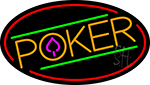 Poker With Border 6 LED Neon Sign