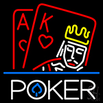 Poker With Border Neon Sign