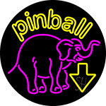 Pinball With Arrow 1 Neon Sign