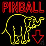 Pinball With Arrow 2 Neon Sign