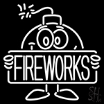 Bomb Fire Work Neon Sign