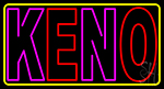 Keno With Oval Border 3 Neon Sign