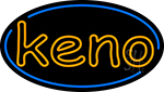 Keno With Oval Border 5 Neon Sign