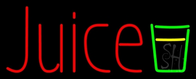 Juice With Glass LED Neon Sign