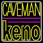 Caveman Keno 3 LED Neon Sign